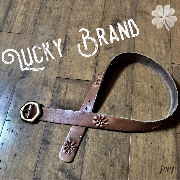 Lucky Brand Accessories - Lucky Brand 100% Leather & Brass Embroidered Belt